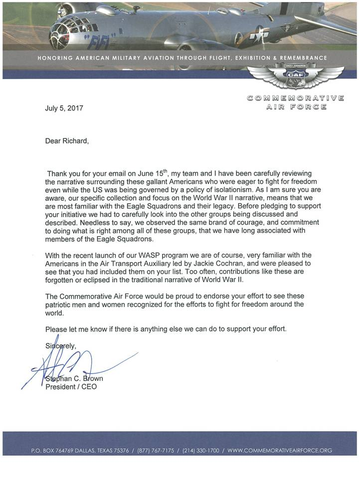 CAF Letter
